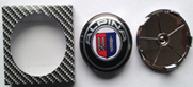Комплект колпачков в колесные диски ALPINA BMW 68,5 мм / 66 мм