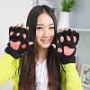 Жіночі рукавички лапки, чорні