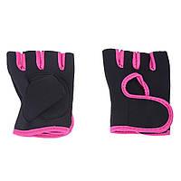 Рукавички для фітнесу та бодібілдингу 0337, рожеві, фото 1