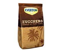 Коричневый (неочищенный) сахар тростниковый россыпной Zucchera grezza di canna Everton, 1 кг.