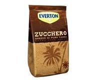 Коричневый (неочищенный) сахар тростниковый россыпной Zucchera grezza di canna Everton, 1 кг., фото 1