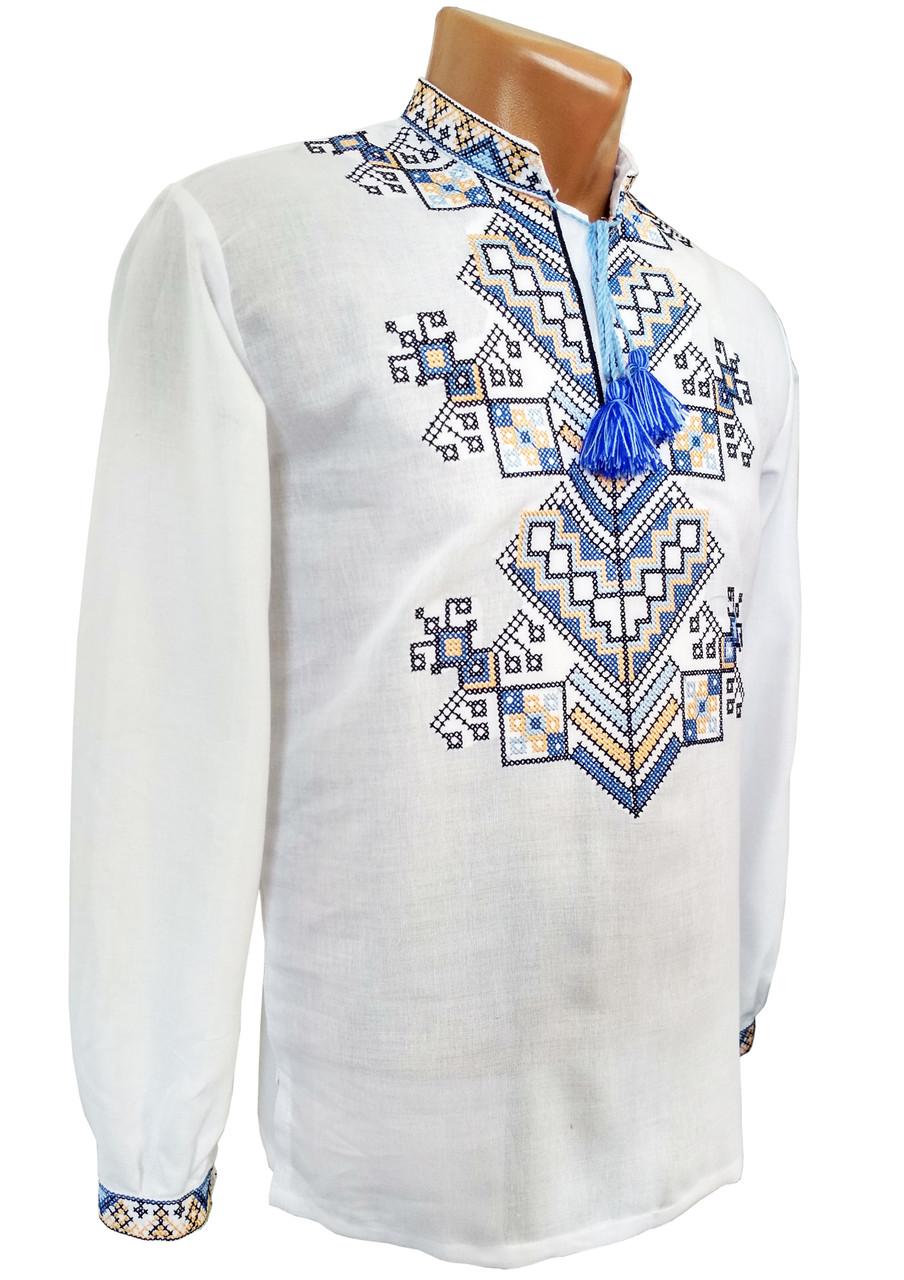 Сучасна чоловіча вишита сорочка у великих розмірах