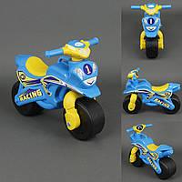 Мотоцикл DOLONI музыкальный Желто-голубой (0139)