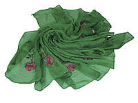 Шарф шифон SH14-1 роза зеленый