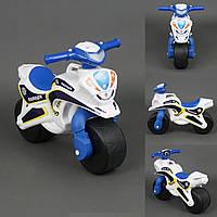 Мотоцикл DOLONI музыкальный Бело-синий (0139)