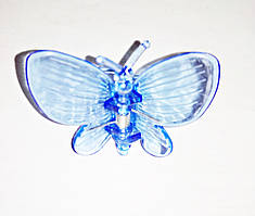 """Зажим для домашних орхидей """"Бабочка"""" синяя, 1 шт"""