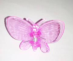 """Зажим для домашних орхидей """"Бабочка"""" розовая, 1 шт"""