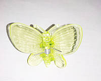 """Зажим для домашних орхидей """"Бабочка"""" желтая, 1 шт"""