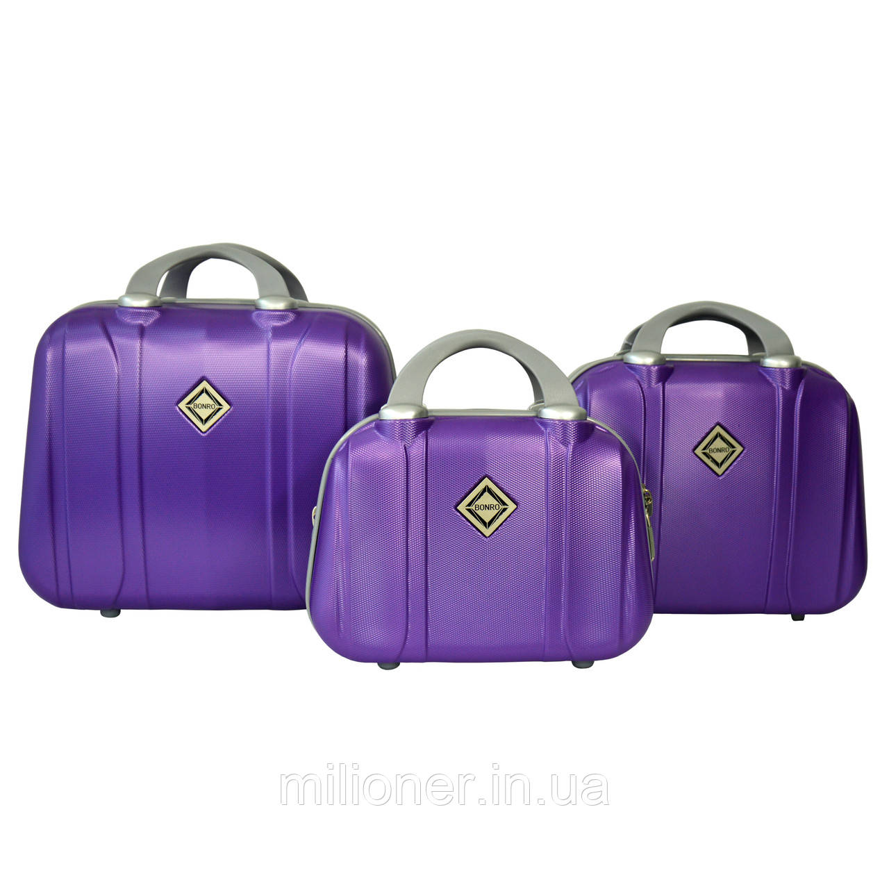 Сумка кейс саквояж 3в1 Bonro Smile фиолетовый (purple 612)