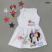 Летнее платье Minnie Mouse для девочки. 3-4;  4-5;  5-6;  7-8;  9-10 лет, фото 1