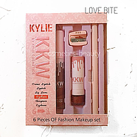 Набір для макіяжу Kylie KKW 6в1 : Love Bite (репліка).