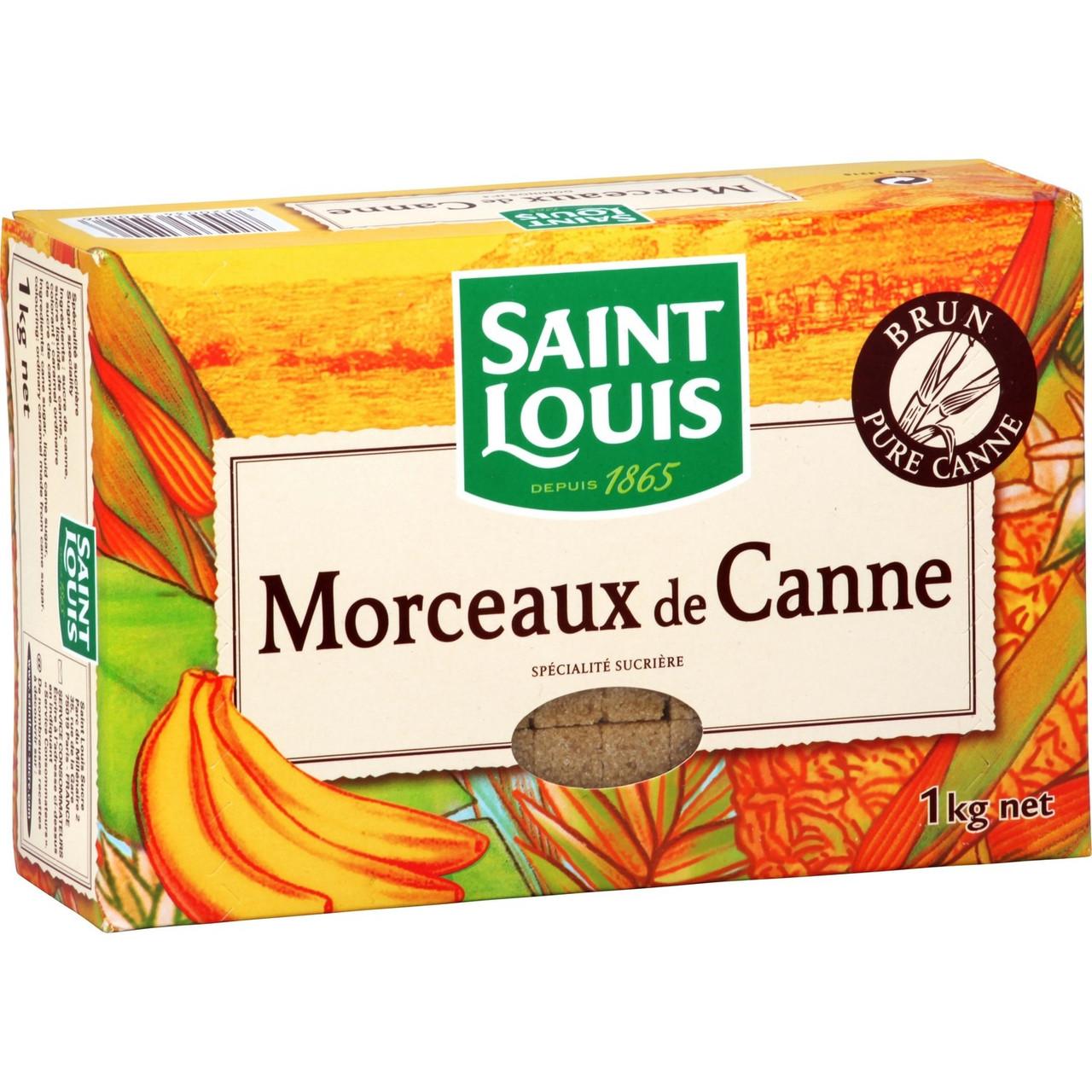 Коричневый (неочищенный) сахар тростниковый рафинад Saint Louis Morceaux de canne, 1 кг.
