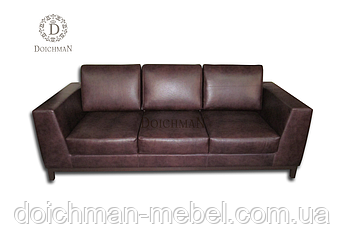 """Кожаный диван """"Chancellor"""" на три посадочных места, диван из натуральной кожи"""