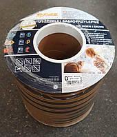 Самоклеющийся резиновый уплотнитель D 9х7.5 (100м) коричневый