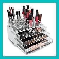 Акриловый органайзер для косметики Cosmetic Storage Box!Опт