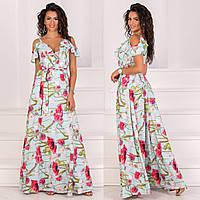 """Летнее платье-сарафан в пол с цветочным принтом """"Акапулько"""", фото 1"""