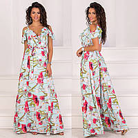 """Літнє плаття-сарафан в підлогу з квітковим принтом """"Акапулько"""", фото 1"""