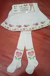 Колготы с вшитой юбкой Улитка белые (DeMelatti, Турция)