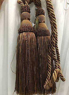 """Декоративные кисти для штор """"Классик"""",коричневые(пара), фото 2"""