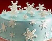 """Набор сахарные фигурки """"снежинки голубые"""" (код 01268)"""