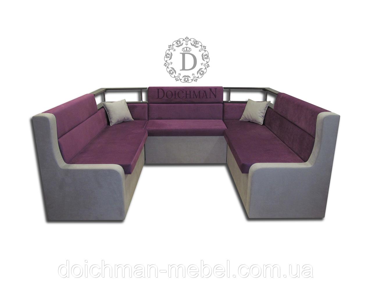 П-подібний диван для кафе, бару, клубу на замовлення
