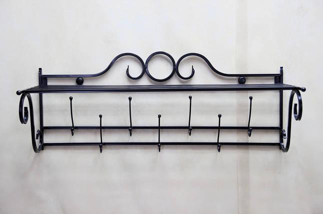 Вешалка кованая настенная 7 крючков В027, фото 2