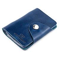 Картхолдер кожаный (визитница) ST-03 (синий), фото 1