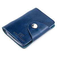 Картхолдер кожаный (визитница) ST-03 (синий)