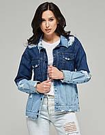 Джинсовая куртка демисезонная женская, жакет джинсовыйOmbre