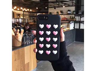 Чехол накладка LOVEBAY 3D BLACK HEART iPhone 7/8