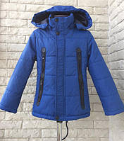 Детская куртка ветровка парка для мальчика 4-5 лет. Демисезонная осень