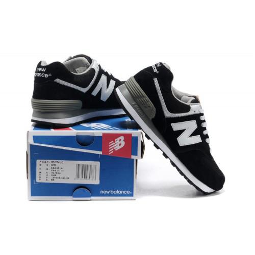 Мужские черно-белые кроссовки New Balance 574(НБ) - nB044  продажа ... 93a5ae28736