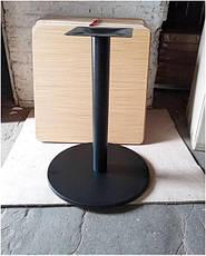 База опора Ока к столу высота 72 см черная диаметр 43 см, для бара, кафе, ресторана, фото 2