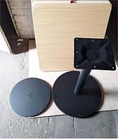 База опора для стола Ока высота 72 см черная, для бара, кафе, ресторана Бесплатная доставка
