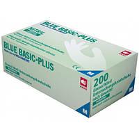 Перчатки нитриловые без пудры AMPri Blue Basic Plus 3,2г, 200 шт