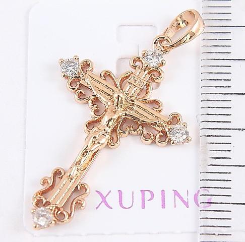 Крестик  xuping позолота 18К длина 3.6см к317