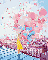 """Картина раскраска антистресс """"Рассвет над крышами Парижа"""", 40 х 50 см С Коробкой"""