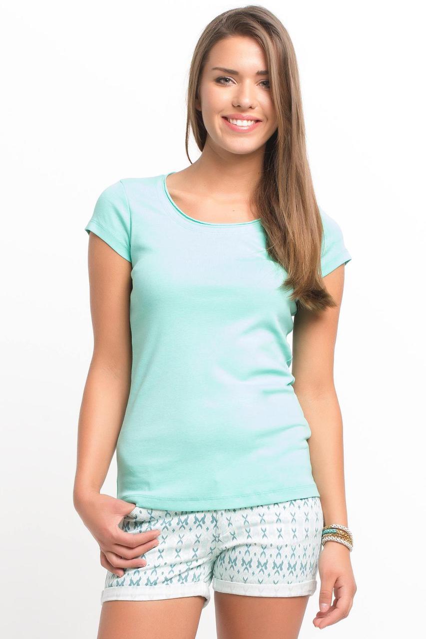 Голубая женская футболка De Facto / Де Факто