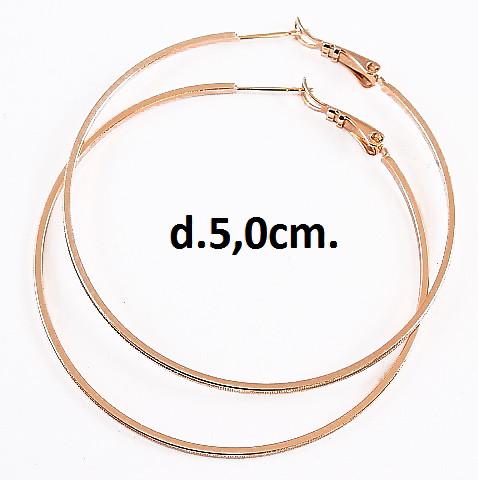 Серьги кольца 5см Xuping  медзолото с856