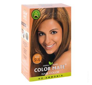 "Хна Краска д/волос ""Color Mate"" 9.4 Golden Brown 15 г"