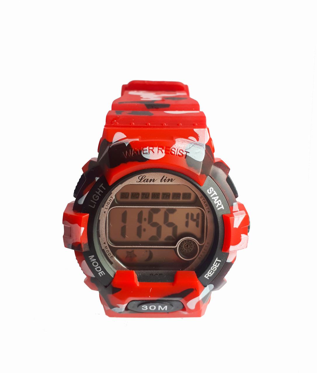 Часы Sport электронные водонепроницаемые. Красный