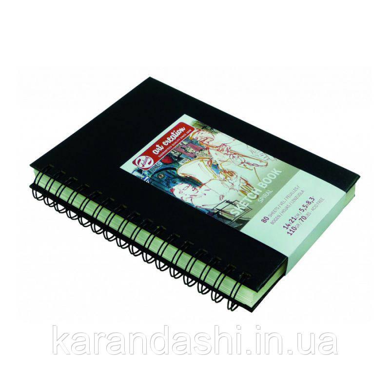 Блокнот для графики Talens Art Creation 14*21см 80л 110г/м черная обложка на спирали
