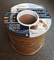 Самоклеющийся резиновый уплотнитель Е 9х4 (150м) коричневый