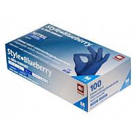 Перчатки нитриловые темно-синий AMPri Style Color Blueberry 4.0г, 100 шт, фото 1