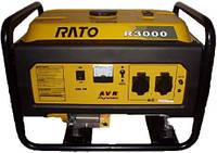 Бензиновый синхронный однофазный электрогенератор (электростанция) Rato R3000 E+ набор для транспортировки