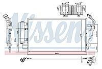 Радиатор кондиционера KOYOAIR Nissan Leaf AZE0 EM57 (13-17) 92100-3NL0A