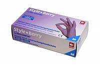 Перчатки нитриловые светло-сиреневые AMPri Style Color Berry 4.0г, 100 шт