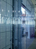 ПВХ завеса, штора Н2100х1080мм, лента Extrafleх 200х1,5мм, перехлест 25%, 6 лент, комплект с карнизом