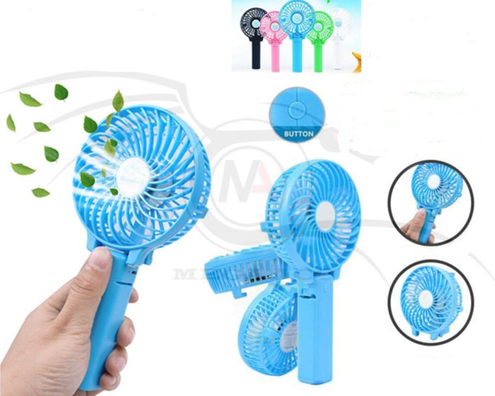 Вентилятор ручної акумуляторний HF-308 Синій