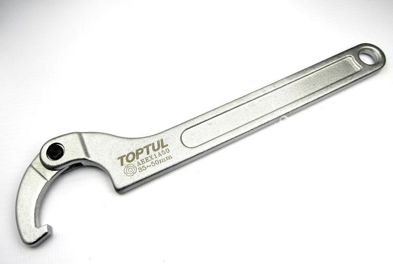 Ключ шарнірний для круглих шліцьових гайок 13-35мм TOPTUL AEEX1A35